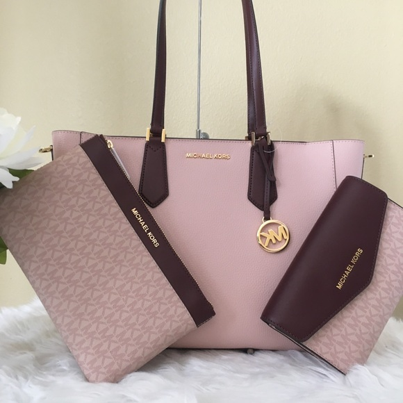 Michael kors Pink KIMBERLY Leather Tote Bag • Top Fashion Brands